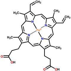 Heme B, the important component of hemoglobin and myoglobin
