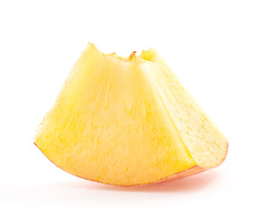 Slice peach, isolated on white background