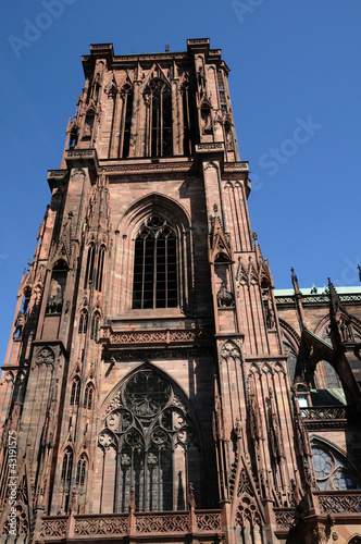 France, the cathedral of Strasbourg in Alsace