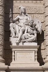 america and australia statue vienna natural museum