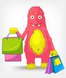 Funny Monster. Shopping.