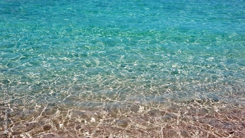 beautiful wavy turquoise shore beach in vacation