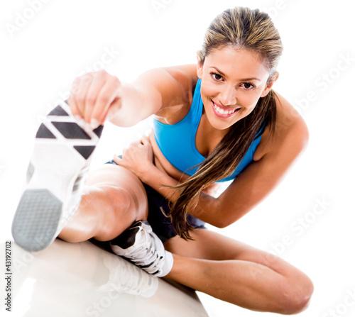 Fototapeta wyciąganie - noga - Kobieta