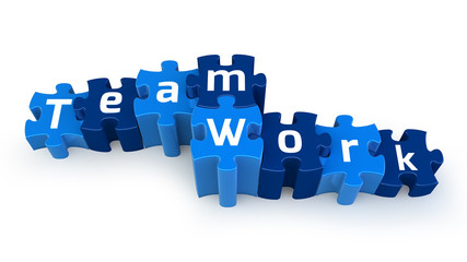 Team Work puzzle text