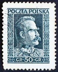 Postage stamp Poland 1928 Marshal Pilsudski, Chief of State, Sta