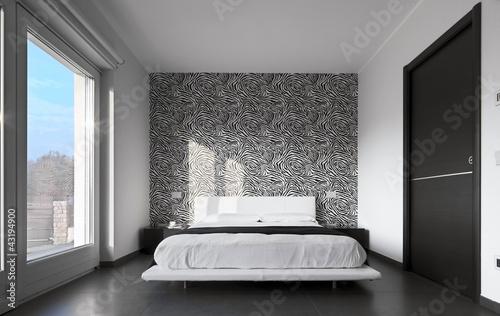 Moderna camera da letto con tappezzeria immagini e for Tappezzeria moderna