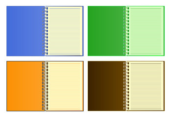 Notebook Paper Vector text book.