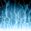 Abstract  lightning blue background
