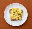 Scrambled Eggs over Toast
