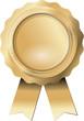 Siegel Gold mit Bändern