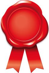 Siegel Rot mit Bändern