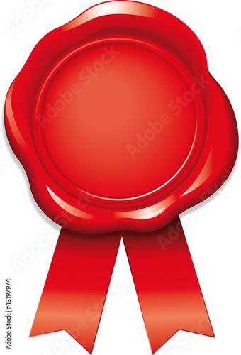 siegel rot mit b ndern stockfotos und lizenzfreie vektoren auf bild 43197974. Black Bedroom Furniture Sets. Home Design Ideas