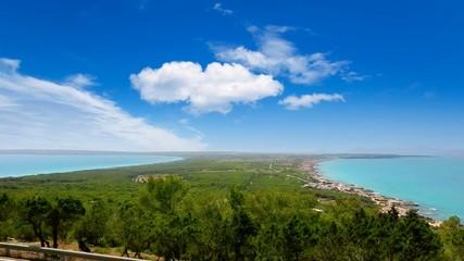 Formentera with ibiza island in background from la mola