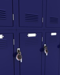 School gym locker