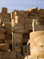 The Ancient Temple Complex of Karnak near Luxor in the Nile Vall