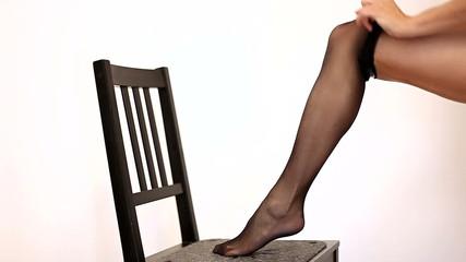 Woman legs in stockings