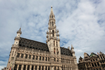 Town hall in Brussels against the blue sky