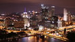Pittsburgh Skyline Time Lapse Night