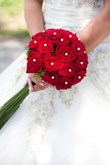 Brautstrauss aus roten Rosen