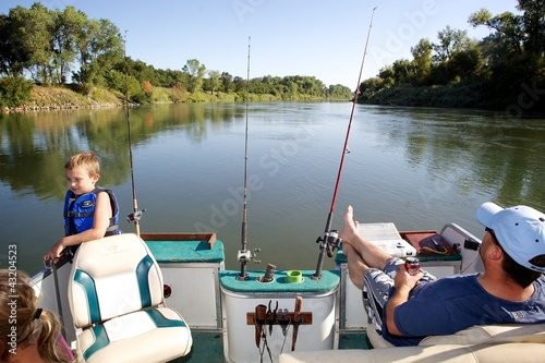 Fotobehang Vissen River Fishing