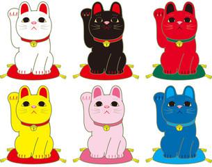 招き猫 6種