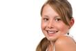 Hübsches lachendes Mädchen, isoliert