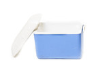 portable fridge blue