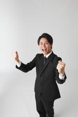 歓喜のビジネスマン
