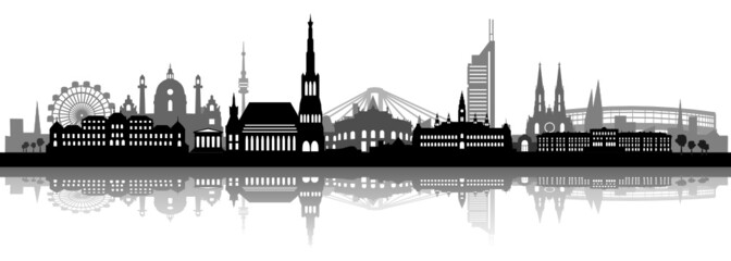 Wien Skyline mit Schatten