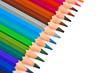 Crayons de couleur alignés diagonale