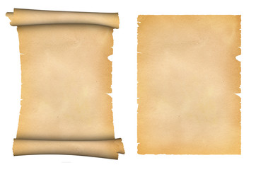 Scroll of parchment and old paper texture.