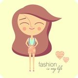 Fashion girl (vector version)