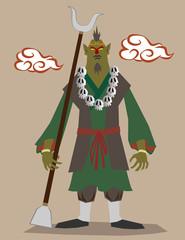 僧侶の妖怪(西遊記のキャラクター沙悟浄  )