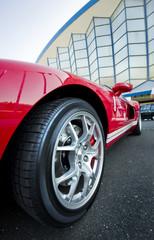 Red Sport Car Wheel