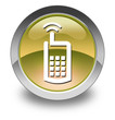 "Yellow Glossy Pictogram ""Cell Phone"""