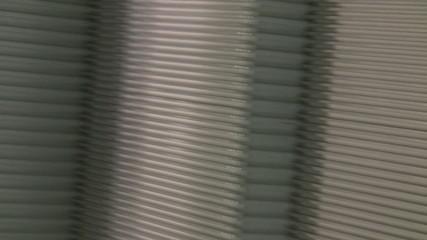 Part of metallic conveyor endless loop
