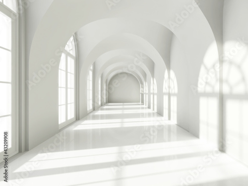 Modern long corridor - 43209908