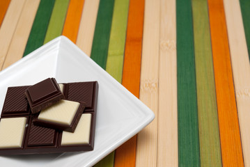 Food collection - Black and white chocolate