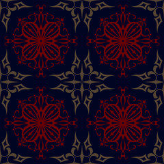 seamless abstract grey red pattern