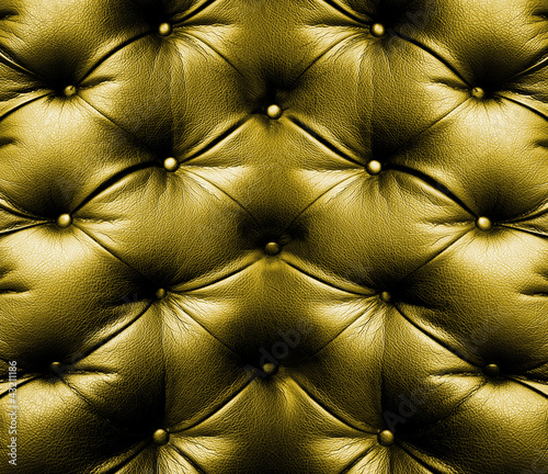 Staande foto Leder yellow leather