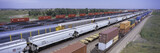 Panoramic view of freight cars at Union Pacific's Bailey Railroad Yards, North Platte, Nebraska, the worlds largest classification railroad yard
