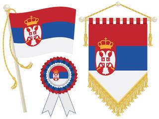 serbia flags