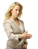 Attractive blond businesswoman