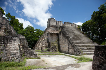 Mayan ruins in the site of Tikal, Guatemala.