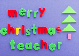 Merry Christmas teacher wishes.