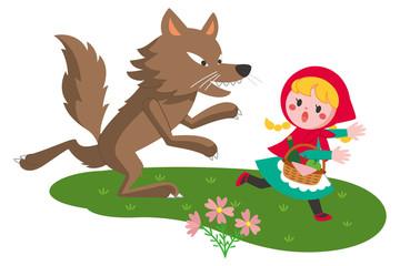 赤ずきんとオオカミ