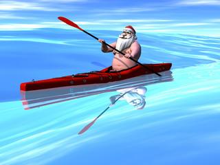 Santa Kayaking