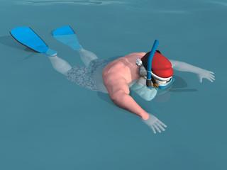 Santa Snorkeling