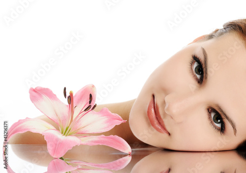 canvas print picture beautiful face