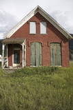 Old boarded up Victorian home in Silverton Colorado
